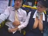 Busty Swedish Stewardess Giving Fulll Service