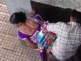 Cheating Wife Gets Busted Fucking In Public and Taped From The Roof