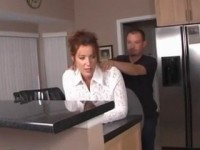 Giving Back Massage To Stepmom Makes Mom Feel Her Stepsons Boner