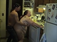 Guy Fucks a Shit Out Of Huge BBW Amateur In Kitchen Homemade