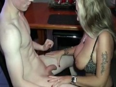 Shy 18yo Teenager Gets First Sex Lesson From Busty German Milf