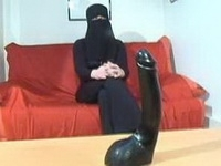 Arab Girl And Big Brutal Dildo As Birthday Present