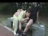 Hooker does public blow job in park