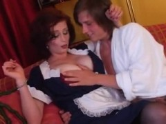 Teenage Boy Suddenly Swoop Busty Milf Maid Which Works For His Parents