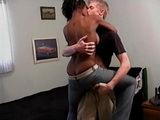 Gorgeous Ebony Partygirl Fucked By A White Dude She Met On A Party
