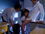 Blackmailed Schoolgirl Gets Creampied By Her Classmates In The Classroom