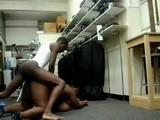 Skinny Amateur Black American Boy Fucks BBW At Work Place