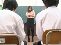 Blackmailed Teacher Forced To Do Striptease Infront of Whole Class