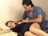 Sleeping Teen Stepsister Gets Misused By Her Perverted Stepbrother