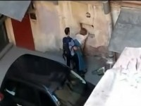 Voyeur Busted Fat Whore Fucked In the Alley By Skinny Student Boy While People Passing By