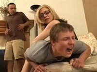 Pissed Off Stepmom Punished Her Son And Show To His Friend Who The Boss Is