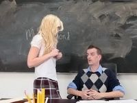 Dirty Female Students  Uses Easiest Way To Convince Teacher She Deserves Better Grade