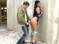 Naughty Teen Hottie Gets Fucked at Abandoned Construction Site