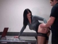 Busty Amateur Secretary Knows How To Get A Raise From Her Boss