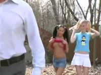 Bratty Teen Stepdaughters Get Punished Badly By Their Harsh Stepfather
