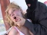 Kidnapped Blonde Gets Brutally Raped By Masked Molester