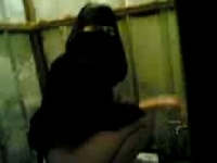 Arab Hijab Girl Taped Peeing