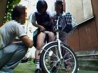 Little Bicyclist Teen Gets Raped By Two Awful Guys In The Alley
