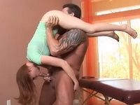 Perverted Daddy Puts His Stepdaughter On A Hard Torture