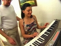 Old Russian Piano Teacher Anal Fuck His Student Girl For Diploma