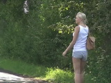 Amateur Girl Gets Picked Up On A Road Tied Up And Abused In Ther Nature