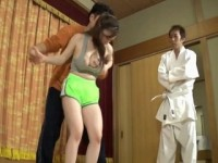 Grand Karate Master Simulate Sexual Assault For Busty Girl And It Quickly Turned Into Reality