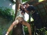 Terrified Bound To a Tree Kidnapped Teen Gets Brutally Violated and Raped By her Kidnapper