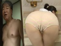 Milf Daughter In Law Gets Unpleasantly Surprised From Behind While She Cleans Bathtub