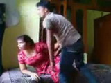 Indian Housewife Checking Out the Window For Her Hubby Not To Surprise Her