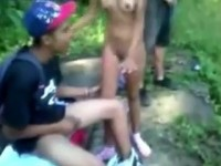 College Teens Tape Themselves Gangbanging Their Latina Classmate After Classes Outdoor